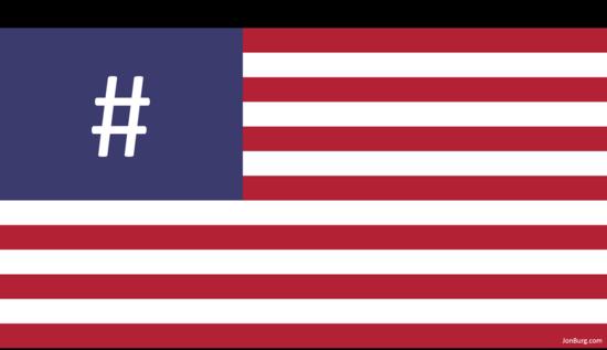 Hashtag flag